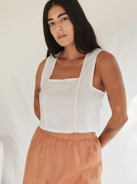 Sugar Candy Mountain Pansy Top - Ivory