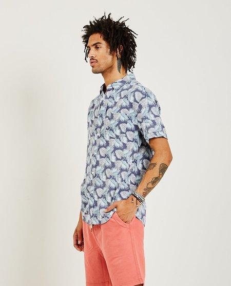 Rails Carson Shirt - Slate Aqua Palms