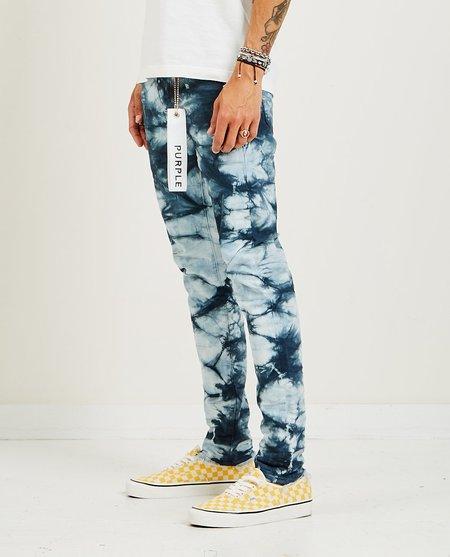 PURPLE P001 Slim Fit Jeans - Indigo Lapis Marble