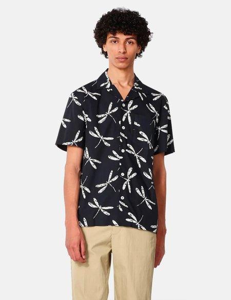 A.P.C. Edd Short Sleeve Shirt - Dark Navy Blue
