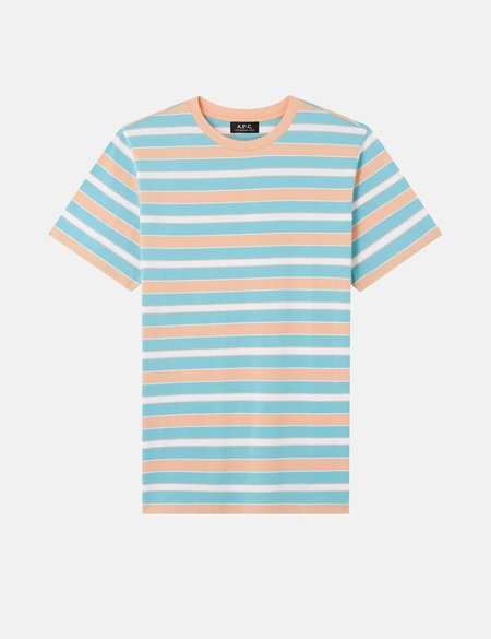 A.P.C. Gio Striped T-Shirt - Turquoise