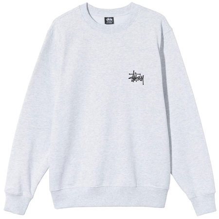 Stüssy basic stussy crew sweatshirt - Ash Heather
