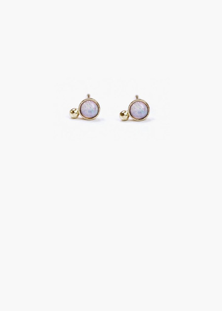 Hart & Stone opal earrings gold
