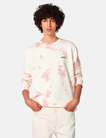 A.P.C. Rick Tie Dye Sweatshirt - Pink