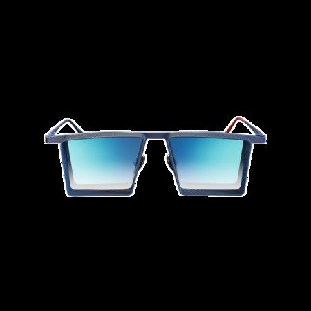 unisex VYSEN Eyewear Alec AL-4 Sunglasses - Blue Frame