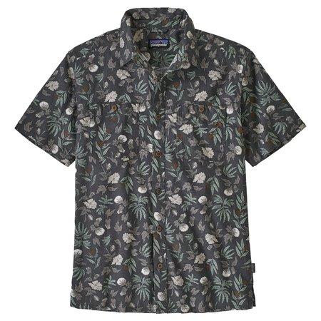 PATAGONIA Backstep Shirt - Forge Grey/Fiber Flora Multi