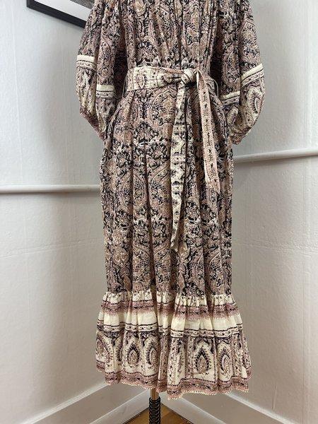 [Pre-loved] Cleobella Peasant Dress - Pink/Cream