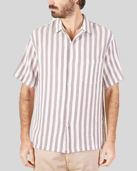Portuguese Flannel Shirt - Lavanda Stripe