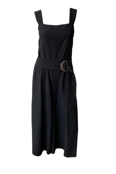 VINCE Belted Jumpsuit - Black