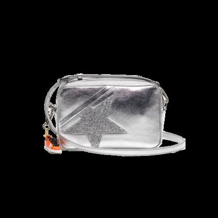 Golden Goose Star Laminated Leather Body Swarovski Star GWA00101.A000102.70130 bag - Silver