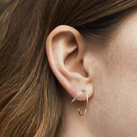 Skomer Studio Everlasting hoop earrings - Silver