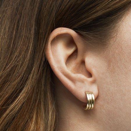 Skomer Studio Trio hoop earrings - 9kt gold
