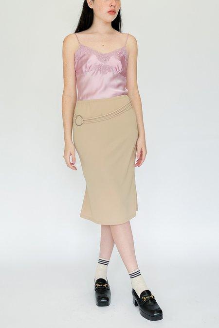 Vintage Silver Ring Skirt - Beige