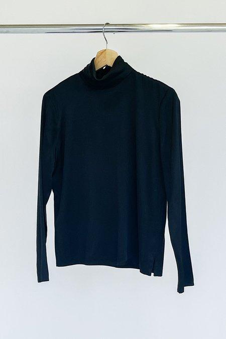 Vintage Silk Knit Turtleneck - black