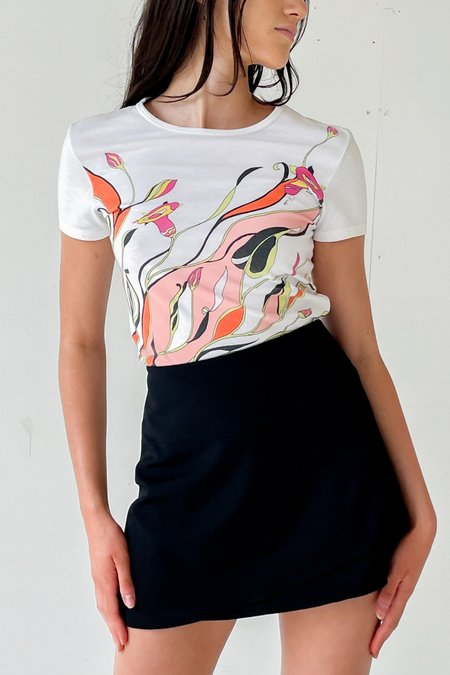 Vintage Emilio Pucci Abstract Print Tee - white