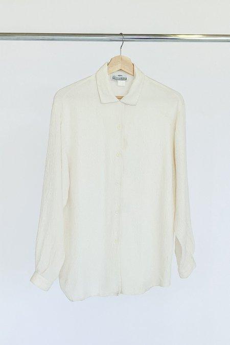 Vintage Kristen Maile Textured Silk Blouse - Ivory