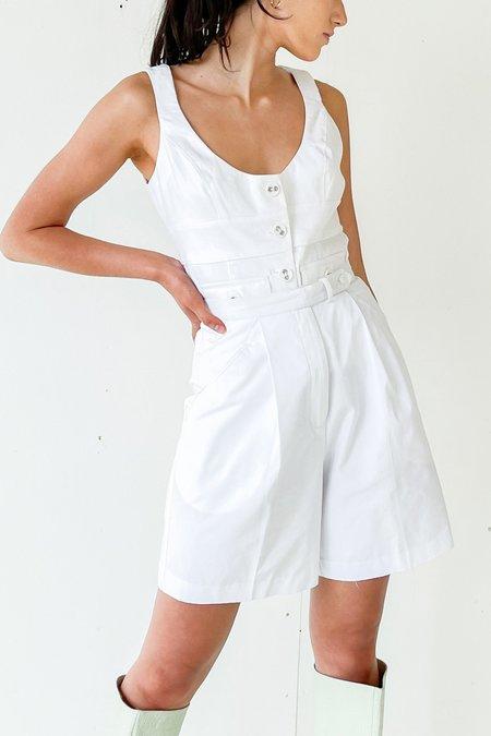 Vintage Paneled Bodice Top - White