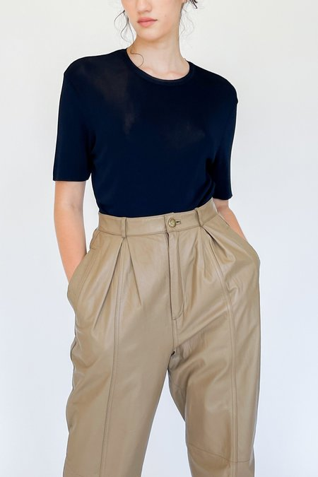 Vintage Yves Saint Laurent Knit Top - Navy