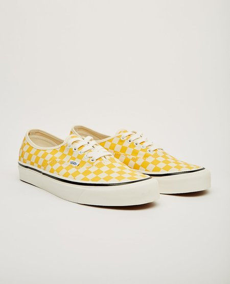 VANS Anaheim Factory Authentic 44 DX Sneakers - Yellow Check