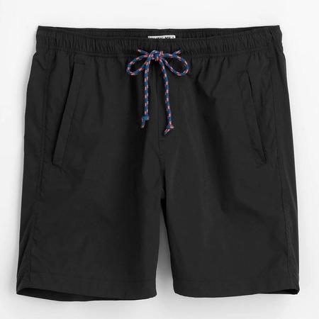 Alex Mill Pull On Italian Tech Fabric Shorts - Black