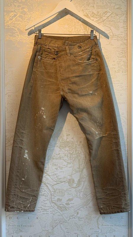 R13 Crossover Jeans - Kalan Khaki