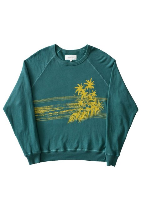 The Great. The College Shoreline Graphic Sweatshirt - Palm Leaf
