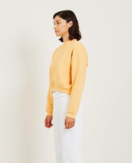 Unisex Mantra Leslie Crew Neck Long Sleeve Sweatshirt - Papaya