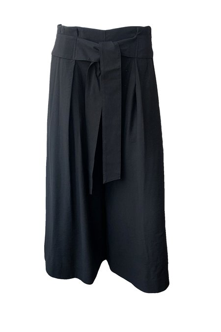 VINCE Belted Palazzo Culotte PANTS - BLACK