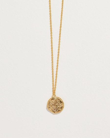 Pamela Love Shipwreck Coin Pendant - 14k yellow gold plate