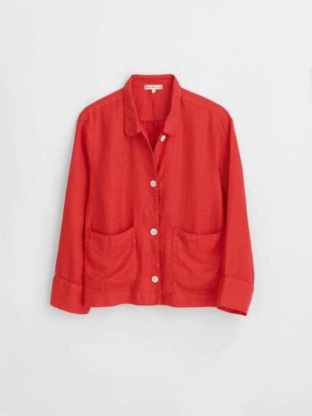 Alex Mill Polly Shirt Jacket - Red
