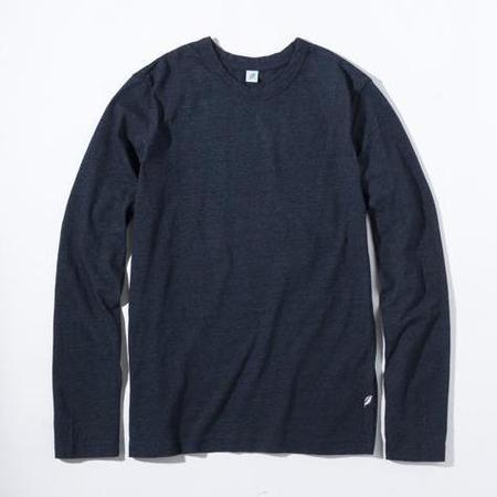 Pure Blue Japan Knit Long Sleeve Tee - Indigo