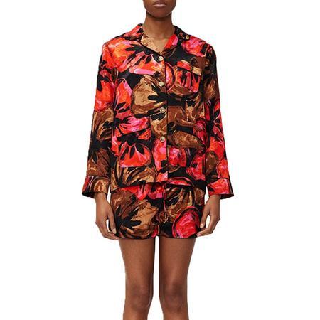 Stine Goya Tjasa Pajama Jacquard Shirt - Opium