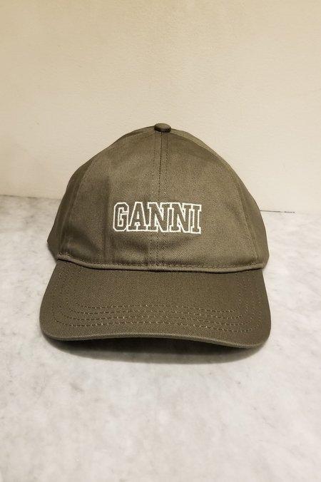 Ganni Software Heavy Cotton Baseball Cap - Kalamata