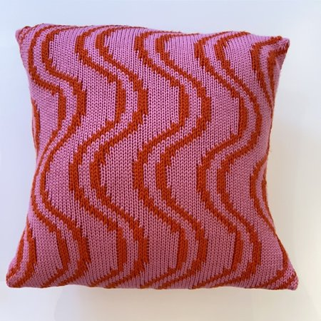 ouimillie Nina Cherie Big Wavy Cushion - Pink/Red