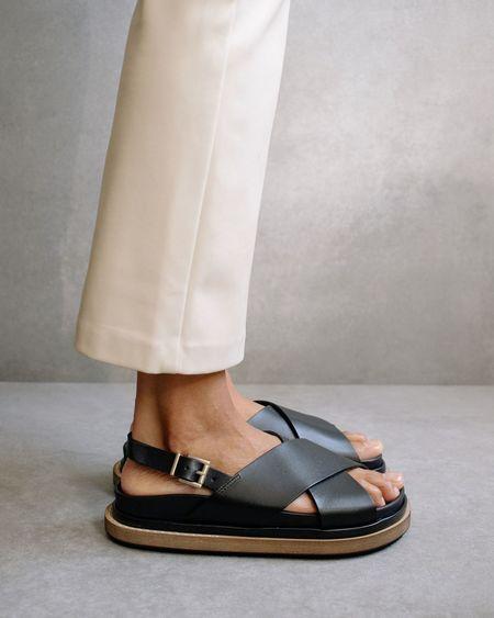 Alohas Marshmallow SANDALS - Black