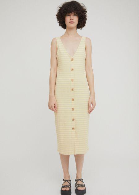Rita Row Damaris Dress - Beige Stripes