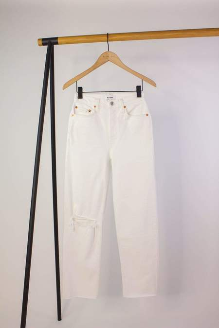 RE/DONE 70s Stove Pipe Jeans - Worn Out White