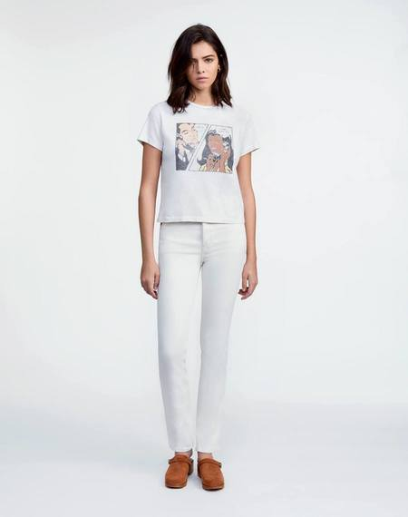 RE/DONE 80s Slim Straight Jeans - Vintage White