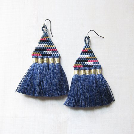 Bluma Project Talitha earrings - denim