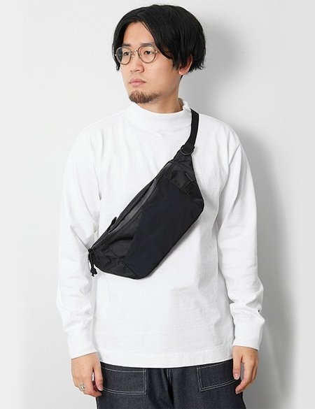 Snow Peak X-Pac Nylon Waist Bag - Black
