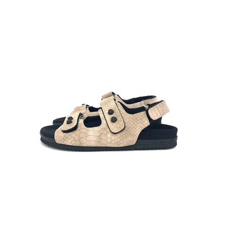Roam Velcro Snake Sandals - Nude