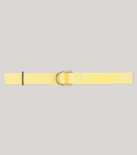Ganni Webbing Belt - Pale Banana