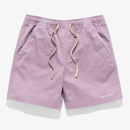 Banks Journal Label Elastic Boardshort - Pale Lavender
