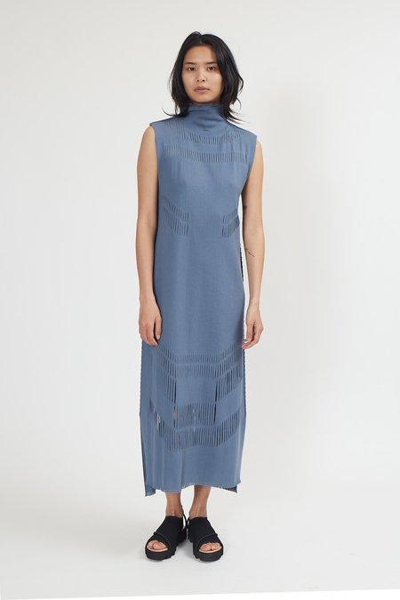Issey Miyake A-POC Slash Dress - Blue