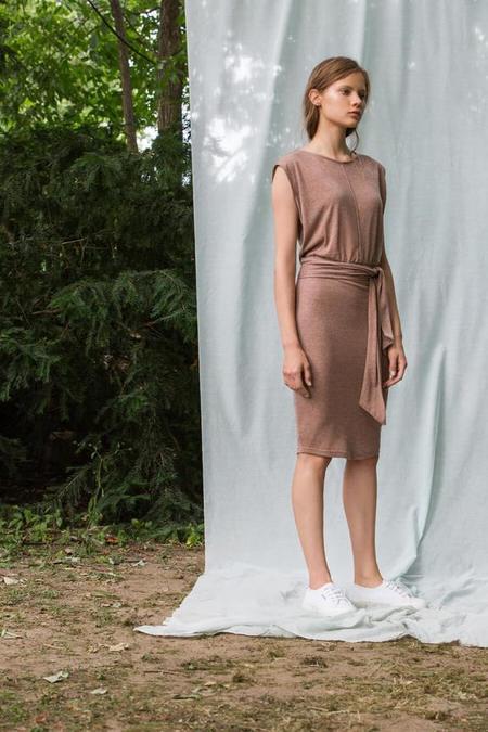 Eve Gravel Amores Dress - Fig