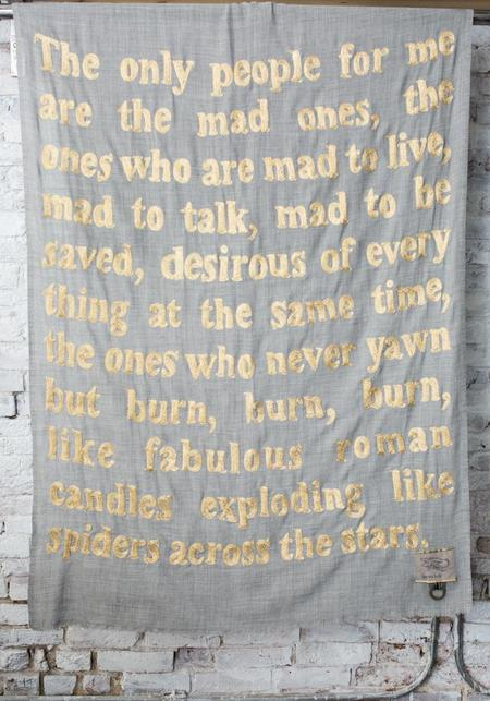 Karien Belle The Mad Ones Lightweight Embroidered Poetry Scarf