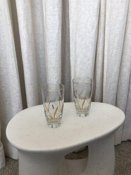 Vintage Wheat Drinking Glass Set