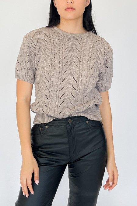 Vintage Short Sleeve Knit Shirt - Ecru