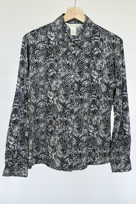 Vintage Silk Blouse  - Snake Print