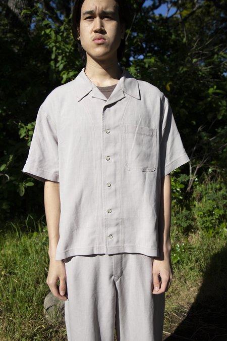FOUR HORSEMEN Tencel Camp Shirt - Tan